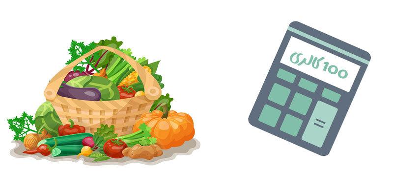محاسبه کالری مواد غذایی