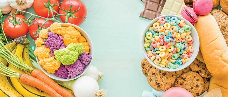 تاثیر خوردن مواد خوراکی و کالری آن ها بر افزایش و کاهش وزن