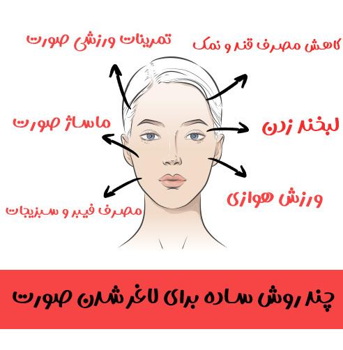 چند روش ساده برای لاغر شدن صورت